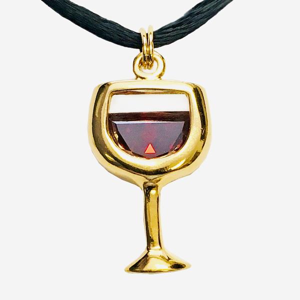 CZ Wine Pendants